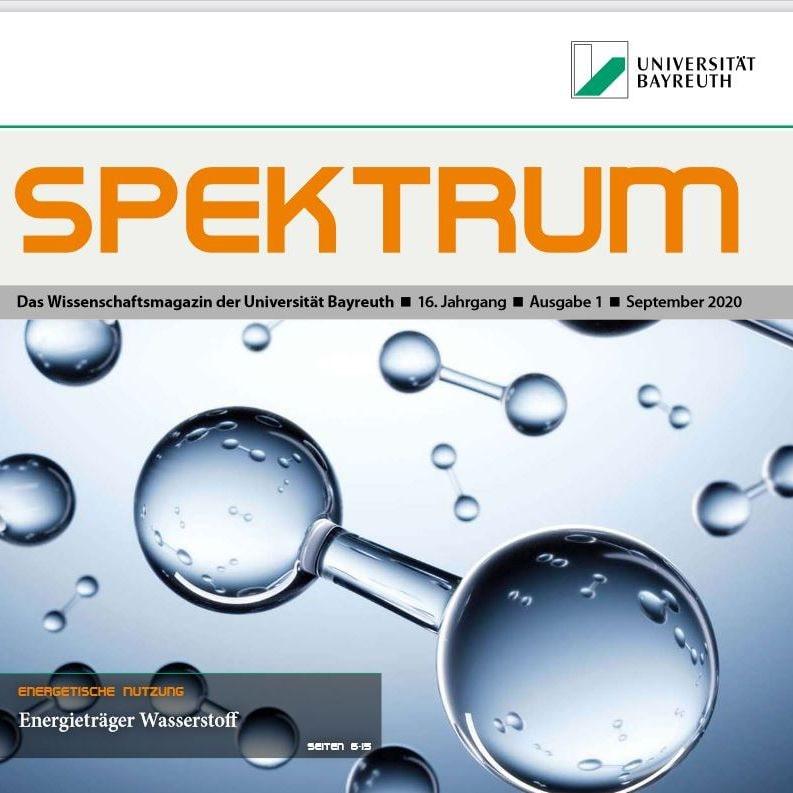 Titelbild des Wissenschaftsmagazins Spektrum der Universität Bayreuth